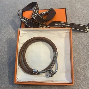 Hermes hook leather bracelet